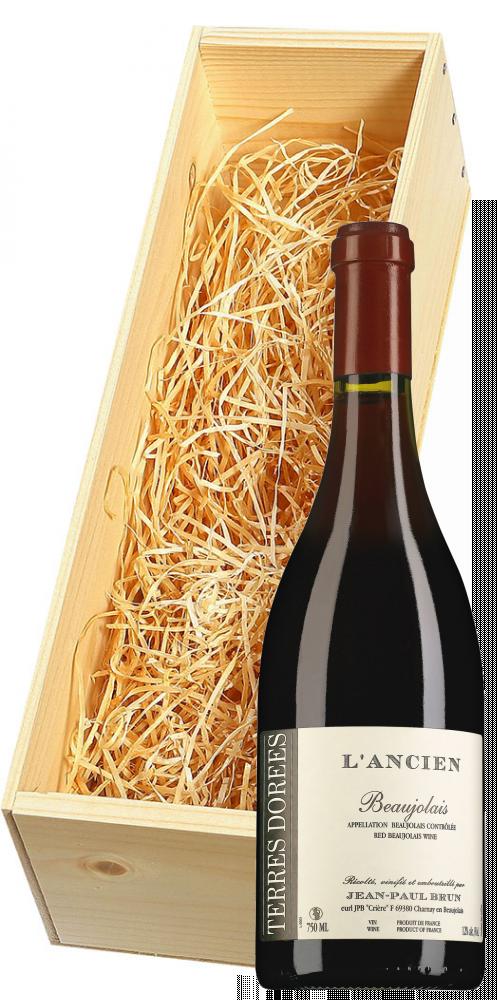 Wijnkist met Jean-Paul Brun Terres Dorées Beaujolais L'Ancien