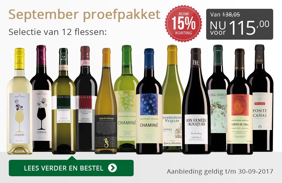 Proefpakket wijnbericht september 2017 (115,00) - grijs/goud