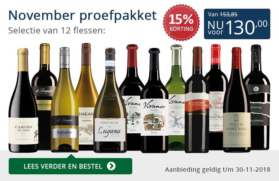 Proefpakket wijnbericht november 2018 (130,00) - blauw