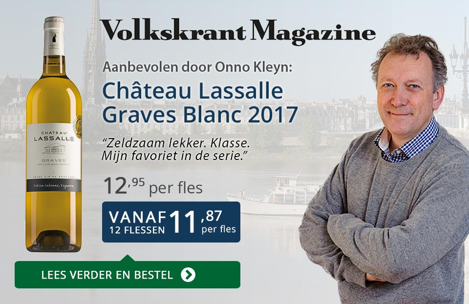 Volkskrant Magazine Château Lasalle Graves Blanc 2017 - Blauw