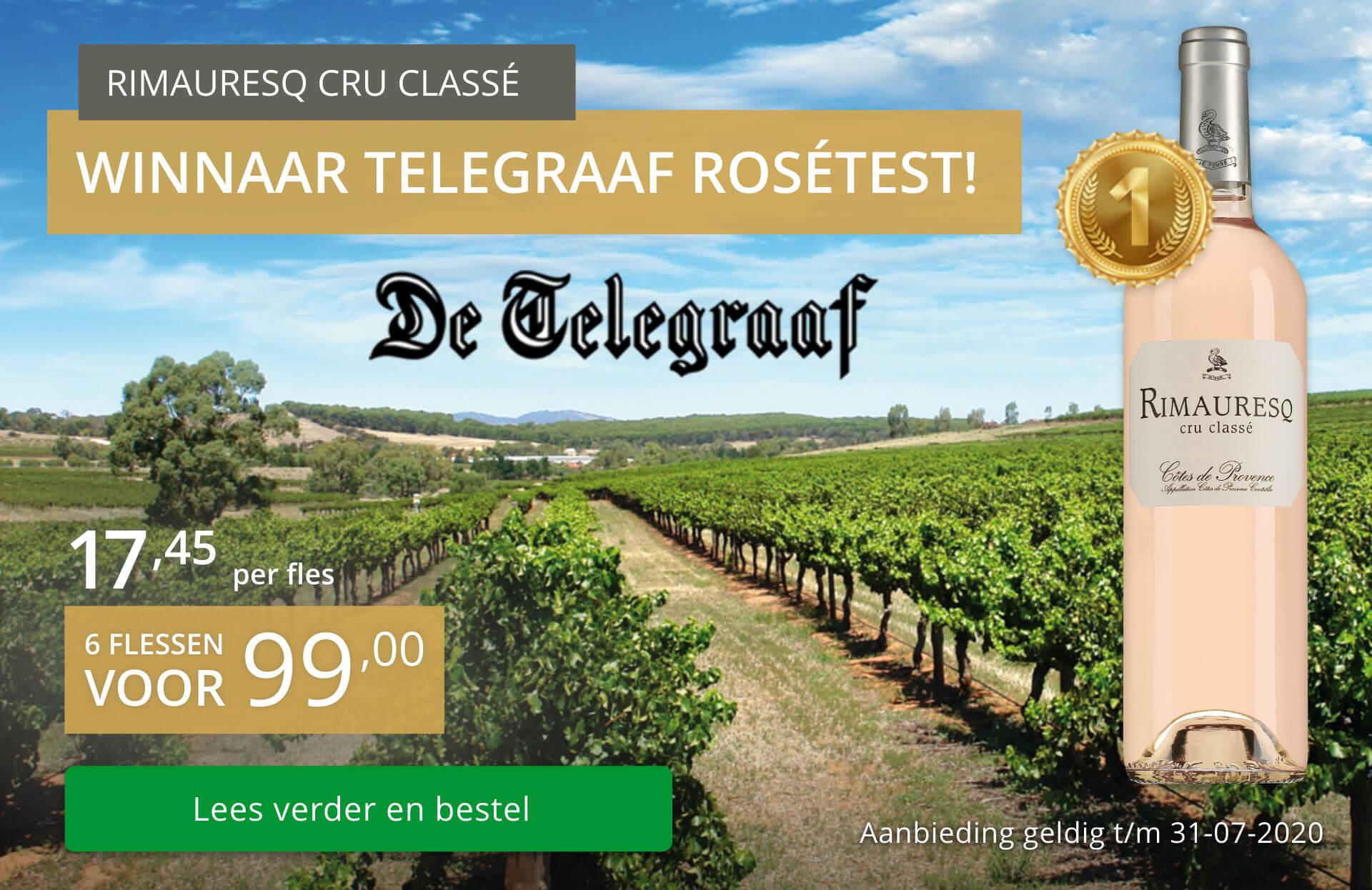 Rimauresq Cru Classé: winnaar Telegraaf rosétest