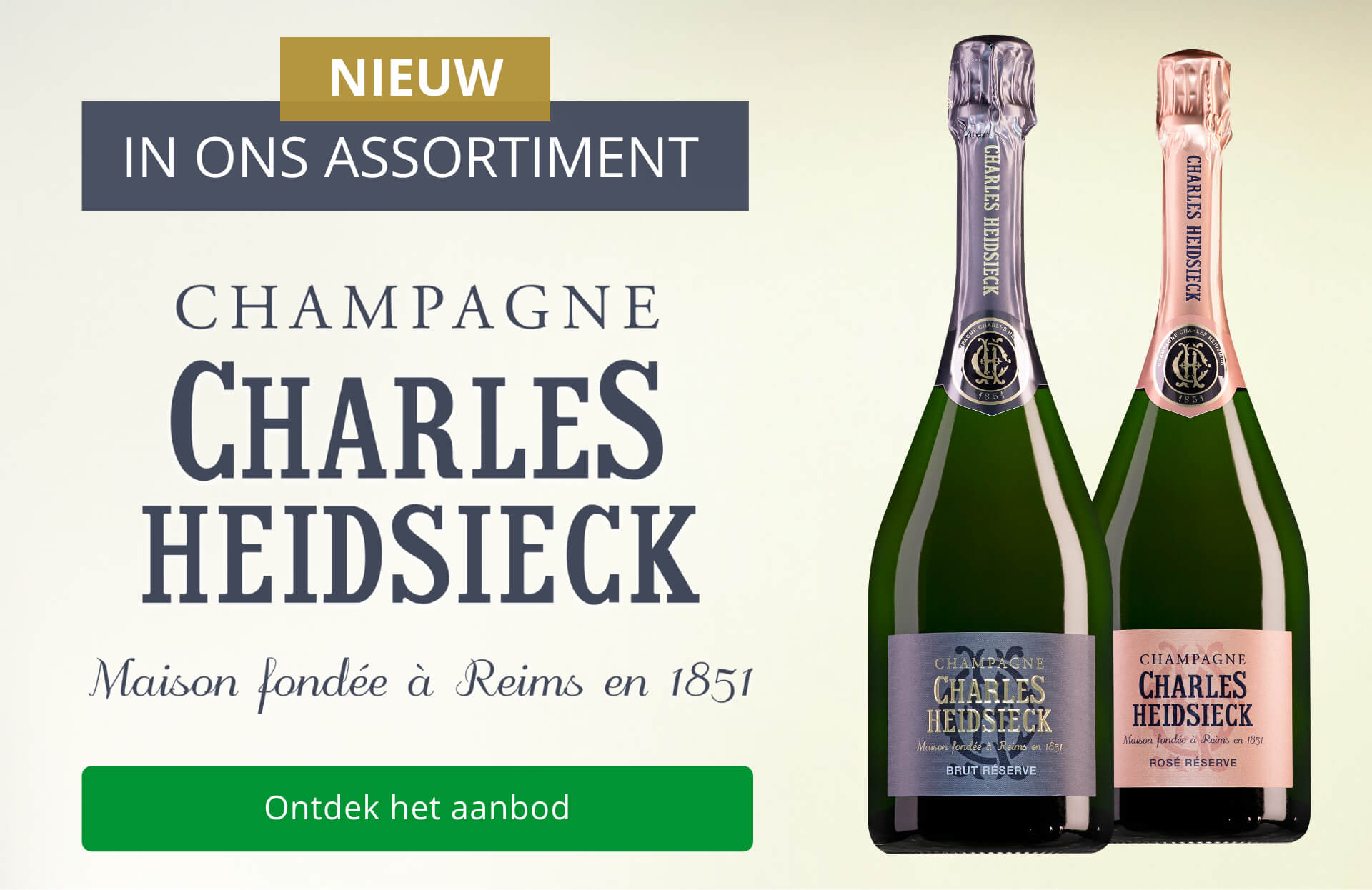 Nieuw in het assortiment: Charles Heidsieck Champagne