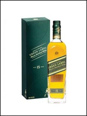Johnnie Walker green label 15 years old pure malt whisky