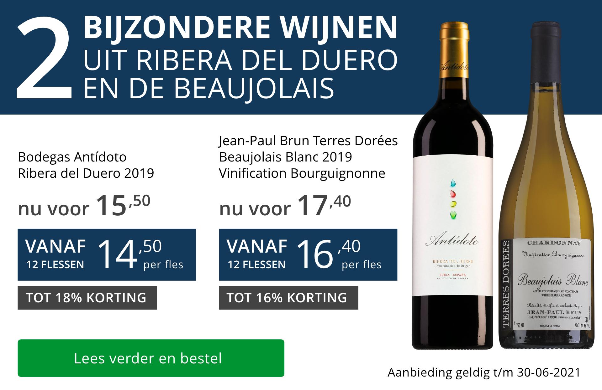 Twee bijzondere wijnen juni 2021 - blauw