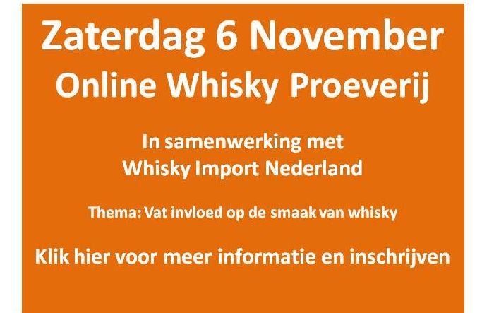 whiskyproeverij 6 november
