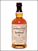 The Balvenie 21 years old Portwood finish single malt whisky